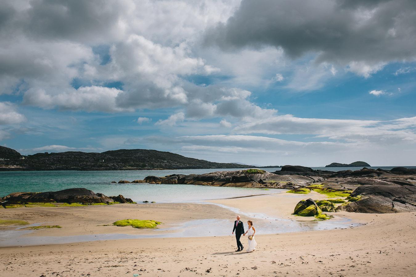 Derrynane beach kerry wedding