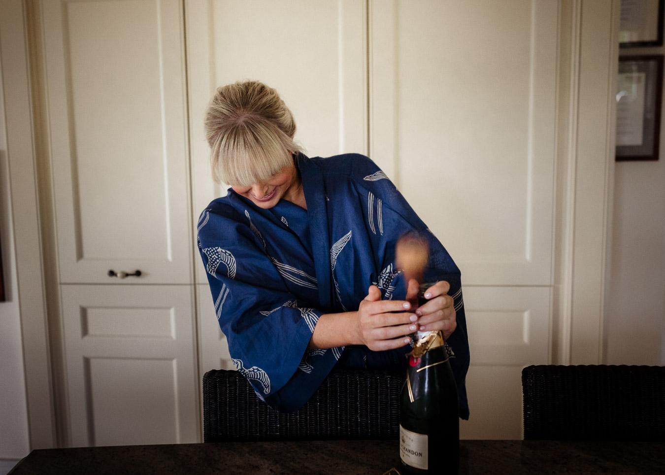 corking champagne