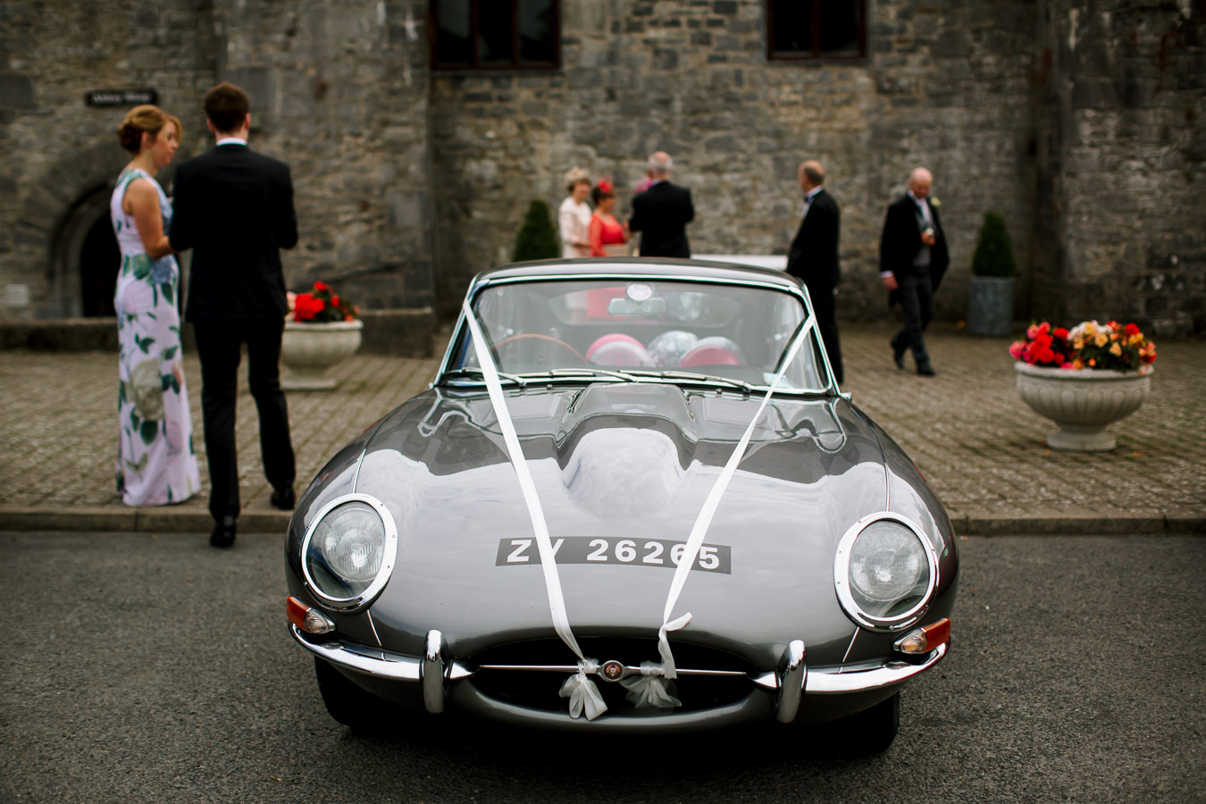 e-type jaguar wedding
