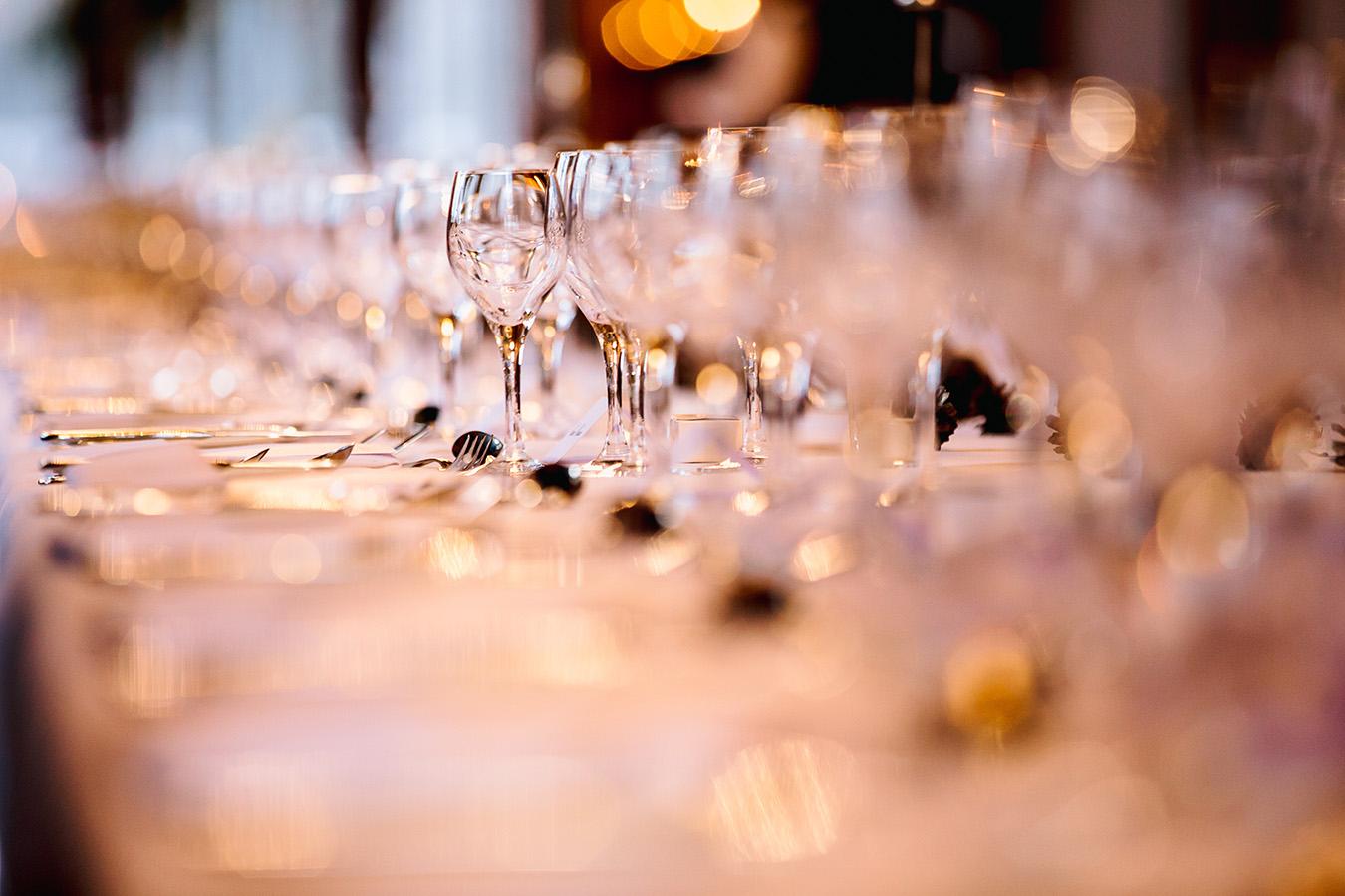 long table wedding setting