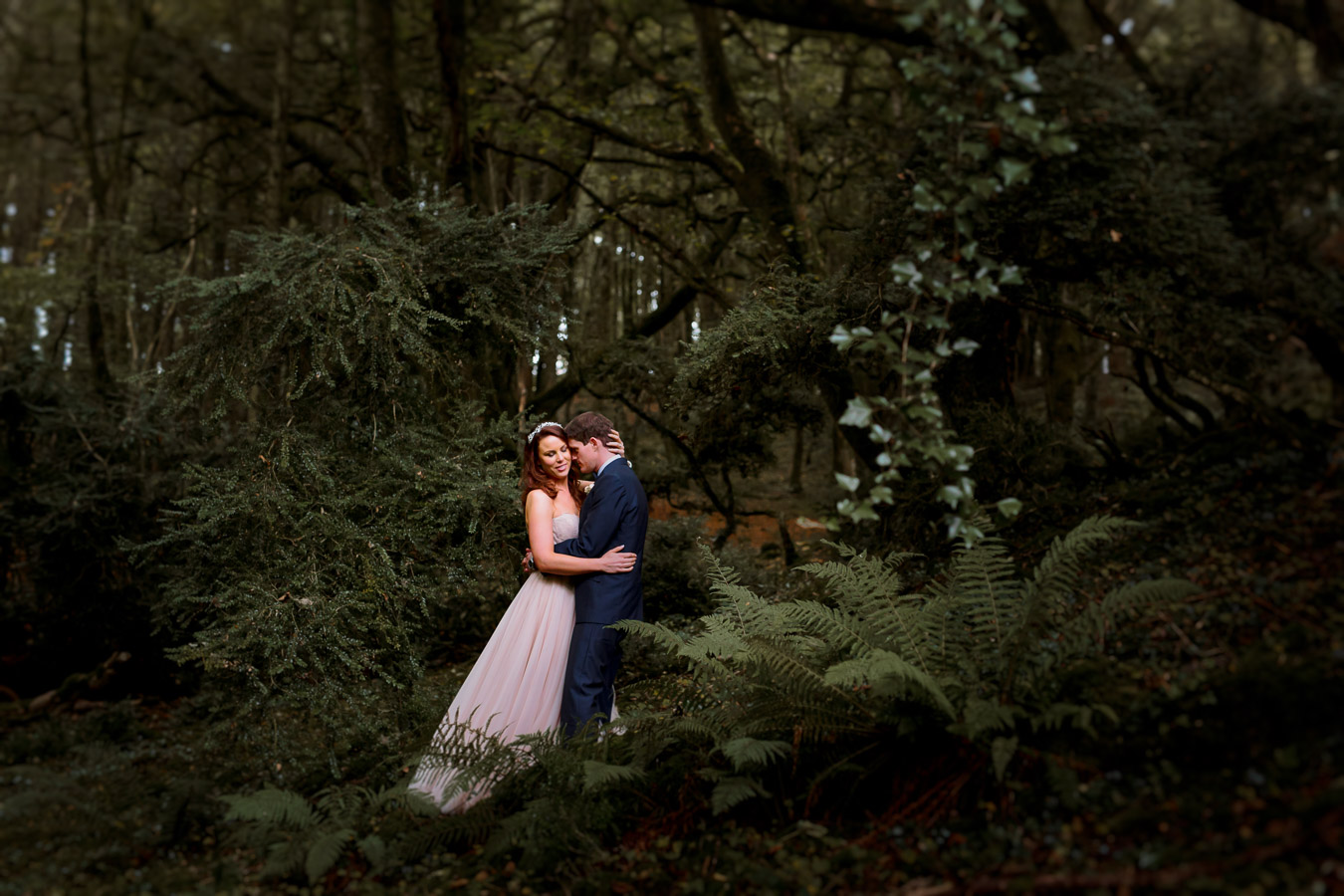 fern woodland wedding