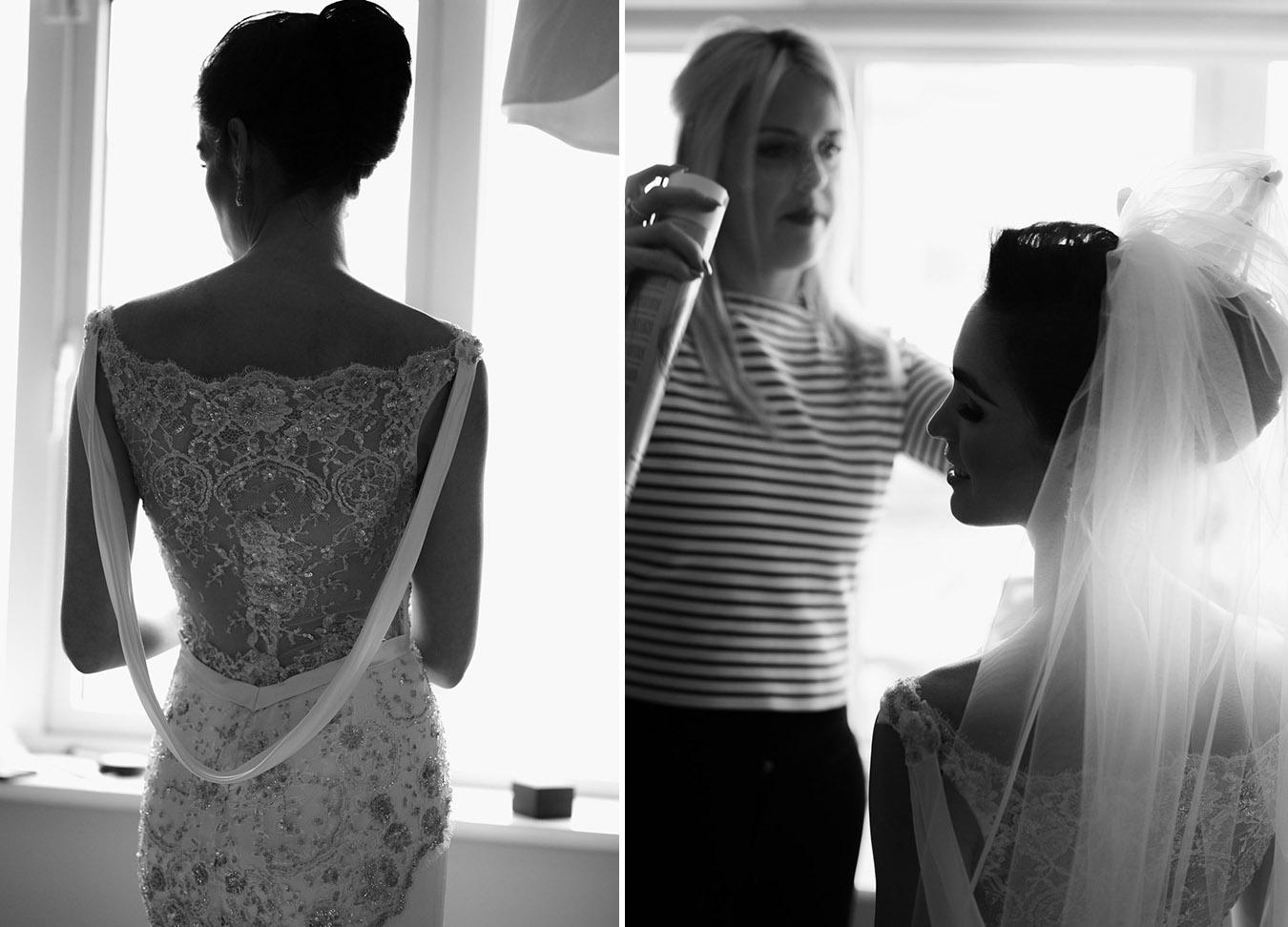 wedding dress cowl