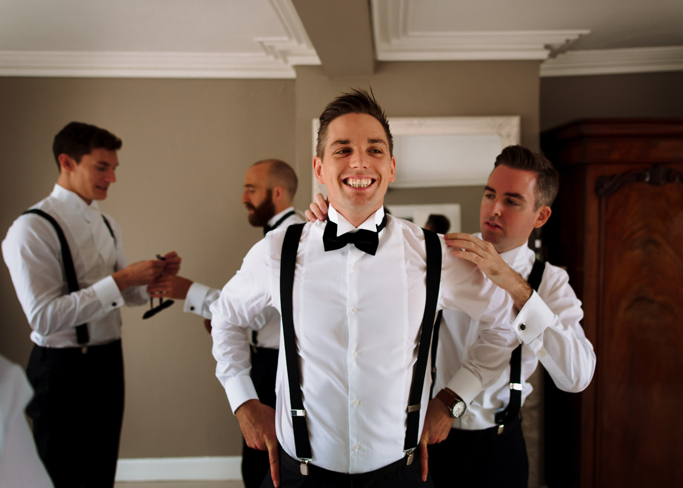 black tie groom wedding