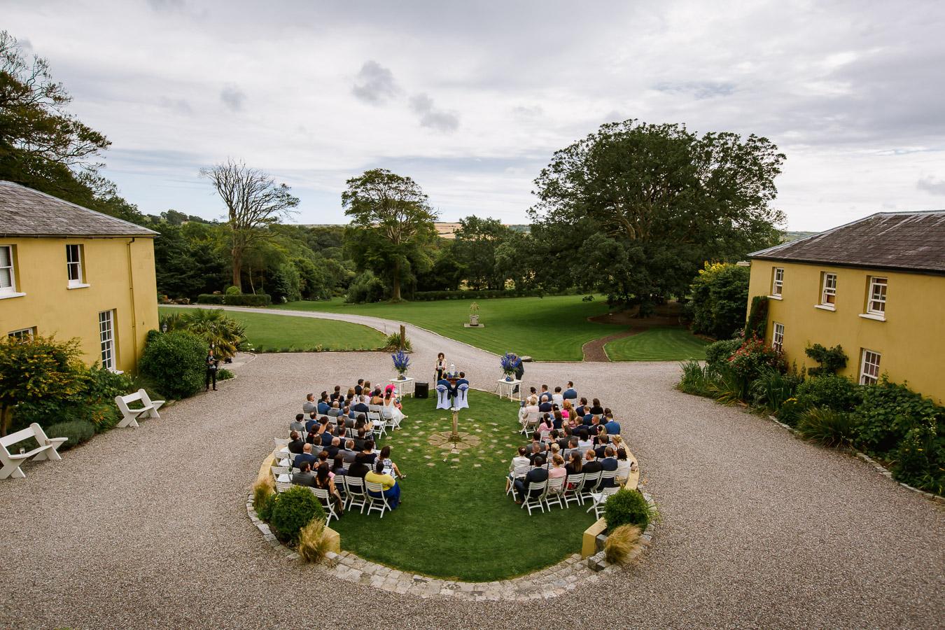 outdoor ceremony wedding ireland